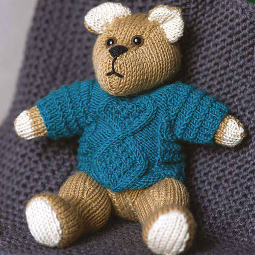 Ella Rae 1140-07 Teddy Bear in Sweater PDF -  ()