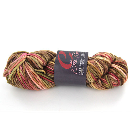 Merino lace red earth mixed fabric in popple quality knit or crochet Lacegarn fluffy yarn