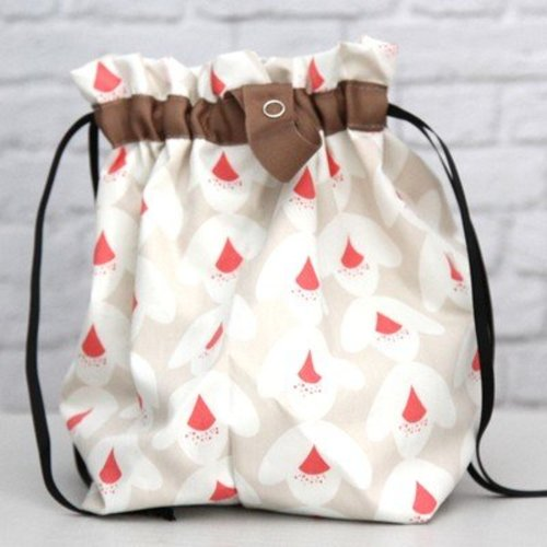 Erin.Lane Twofer Drawstring Bag with Interior Divider -  ()