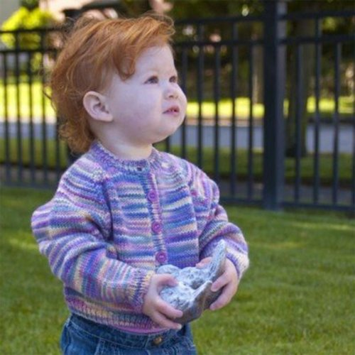 Figheadh Yarnworks Fundamental Top-Down Baby Cardigan PDF -  ()