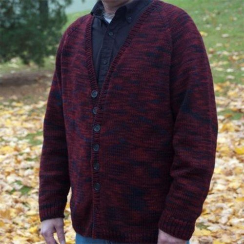 Figheadh Yarnworks Fundamental Top Down Men's Cardigan PDF -  ()