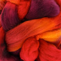 Frabjous Fibers Hand-Dyed Polwarth Wool Top - Moulin Rouge, #10 (MOULIN)