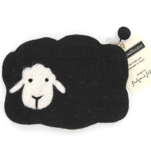Frabjous Fibers Mama Sheep Notions Bag - Black With White Face (BLACK)