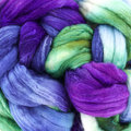 Frabjous Fibers Organic Polwarth/Silk Hand-Dyed Top - #921 Narwhal (NARWHA)