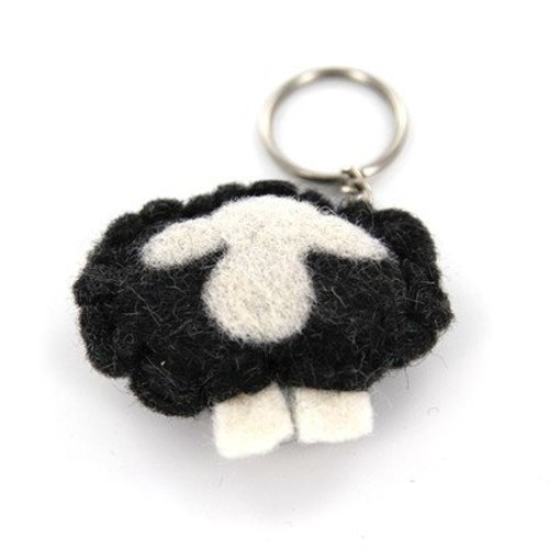 Frabjous Fibers Sheepish Keychain - Black Body (BLACK)