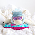 Franklin Habit Dolores #5 Huggy Hygge Winter Accessories Kit by Mary Jane Mucklestone - Light Blue Version (02)