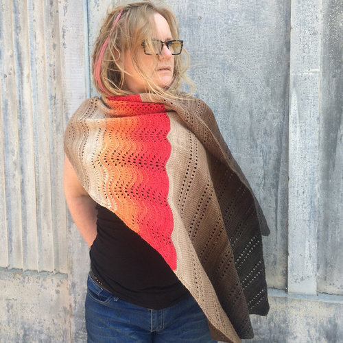 Freia Fine Handpaints Devil's Slide Shawl Kit - Ember-Espresso (EMBR)