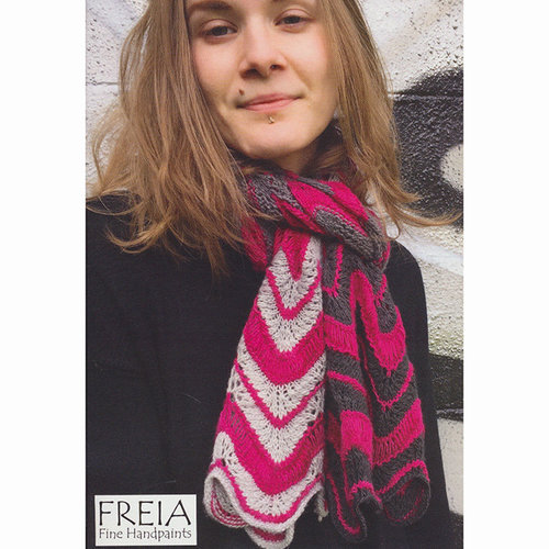 Freia Fine Handpaints Kanab Creek Scarf Kit - Cloud-Garnet (CLOUD)