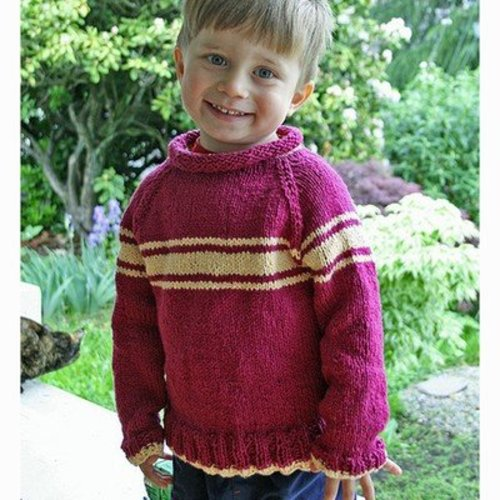 Gardiner Yarn Works Kids' Stripey Raglan PDF -  ()