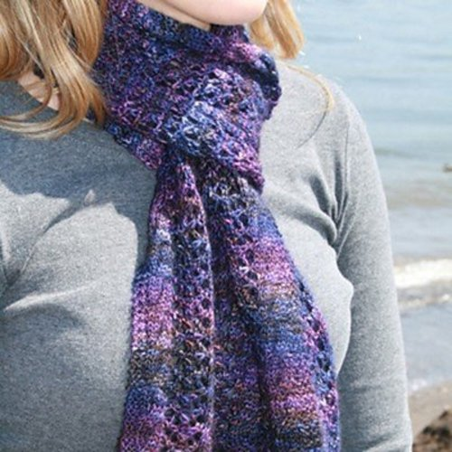 Gardiner Yarn Works Midnight Lace Scarf PDF -  ()