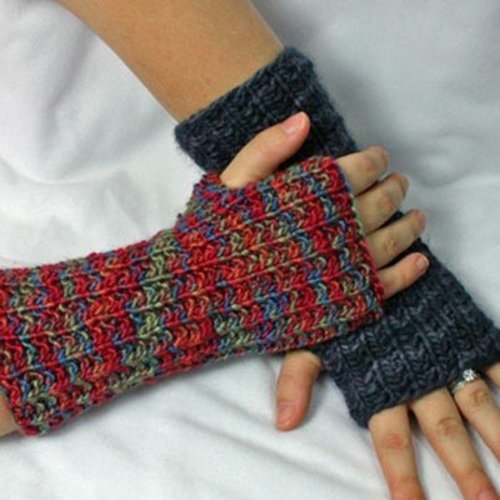 Gardiner Yarn Works Seeded Rib Wristwarmers PDF -  ()