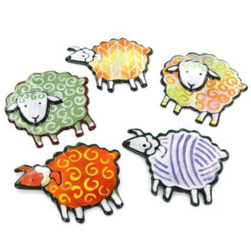 Glass Sheep Ornaments -  ()