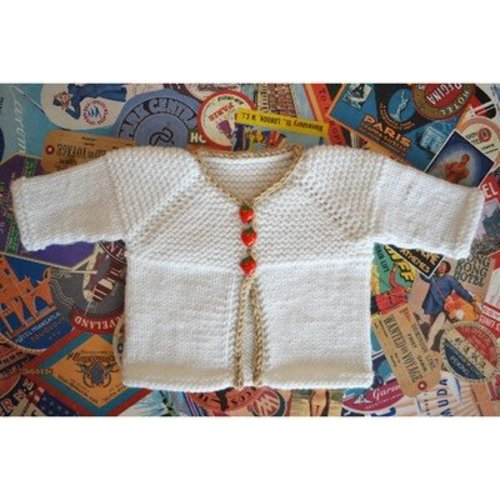Spud & Chloe by Blue Sky Fibers Hello Baby Cardigan (Free) -  ()