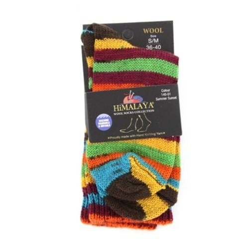 Himalaya Wool Socks Collection - Summer Sunset - Size S/M (14001SM)