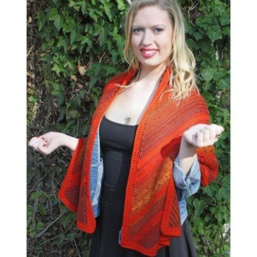Hooked for Life Bias Striped Tunisian Wrap PDF -  ()