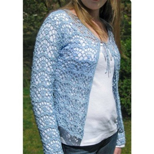 Hooked for Life Cambered Cardigan PDF -  ()