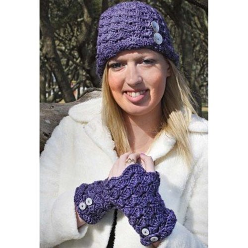 Hooked for Life Fiona Hat & Fingerless Mitts PDF -  ()
