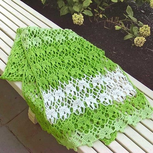 Hooked for Life Fleuron Shawl PDF -  ()