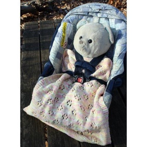 Hooked for Life Two Infant Car Seat Blankets to Knit PDF -  ()