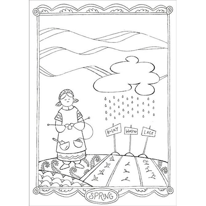 I Dream of Yarn: A Knit and Crochet Coloring Book at WEBS