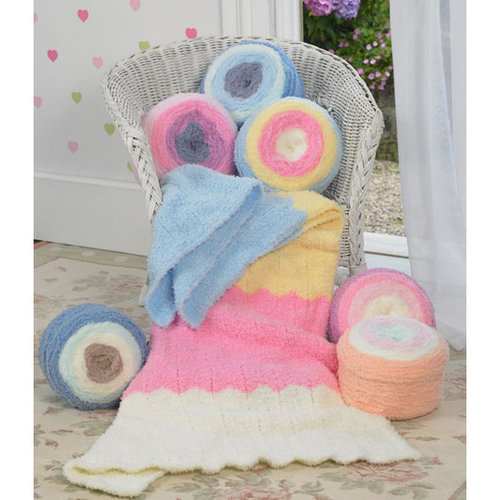 James C. Brett Fairy Cakes - Blue, Yellow, Pink, White (FC1)