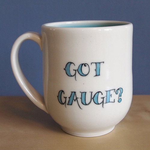 JaMpdx Got Gauge? Tattoo Style Ceramic Mug - Aqua (AQUA)