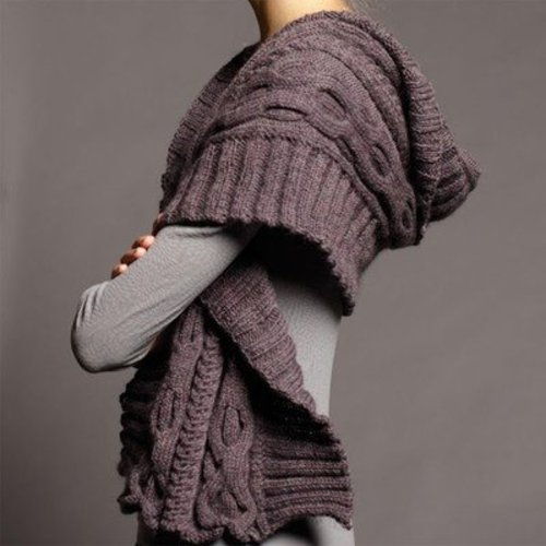 Jo Sharp Cable Shawl and V-Neck Sweater PDF -  ()