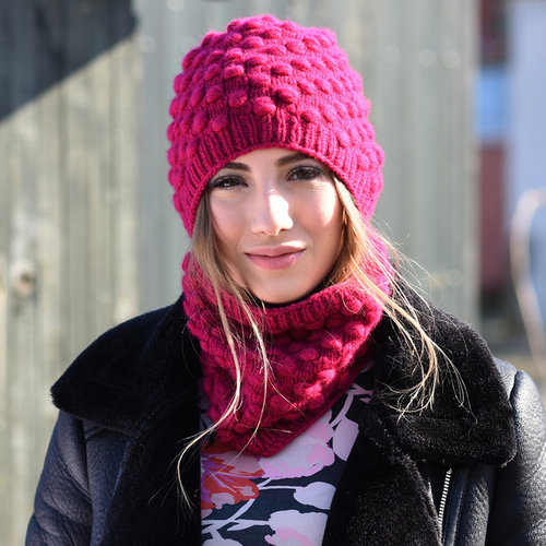 Juniper Moon Farm Agnetha Hat & Cowl PDF -  ()