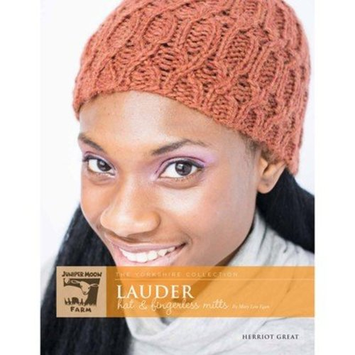 Juniper Moon Farm Lauder Hat & Fingerless Mitts - The Yorkshire Collection - Printed (LAUDER)