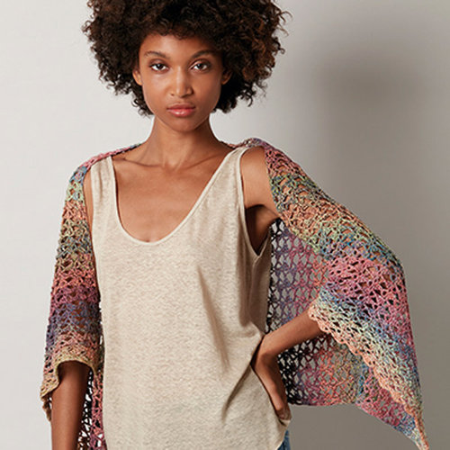 Katia Funny Rainbow Shawl/Top/Shrug (Free) -  ()