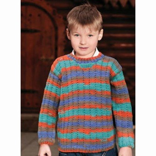 Knit One Crochet Too 1960 Child Mock Rib Pullover -  ()