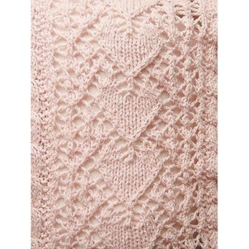Knit One Crochet Too 1986 Heirloom Hearts Baby Blanket -  ()