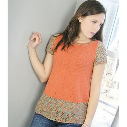 Knit One Crochet Too 1996 Orange Crush Tunic -  ()