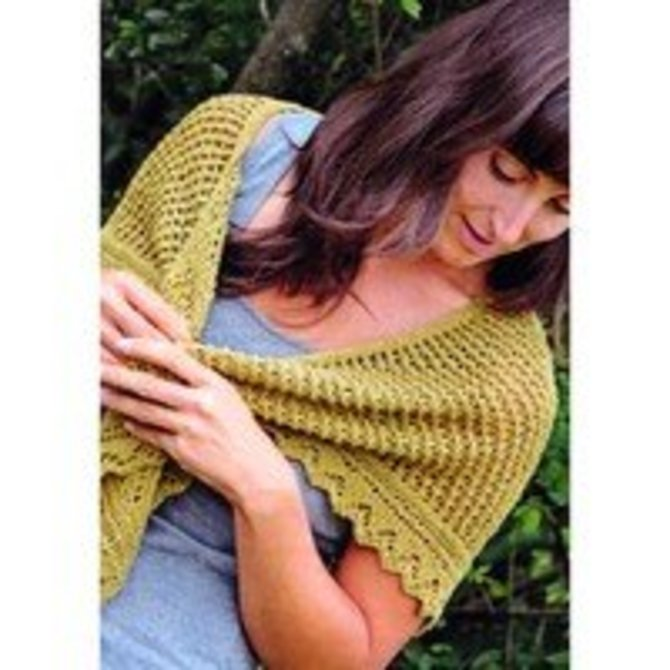 Knit One Crochet Too 2118 Tulip Shawlette At Webs Yarn Com