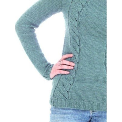 Knit One Crochet Too 2148CN Faux Cable Hoodie -  ()