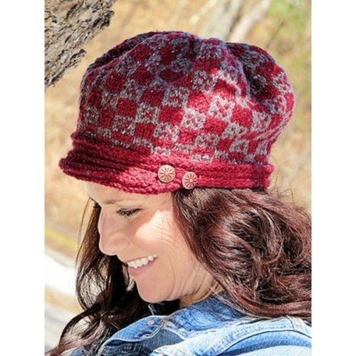 Knit One Crochet Too 2242 Plaid Cap -  ()