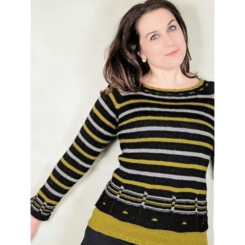 Knit One Crochet Too 2268 Windows & Stripes Pullover -  ()