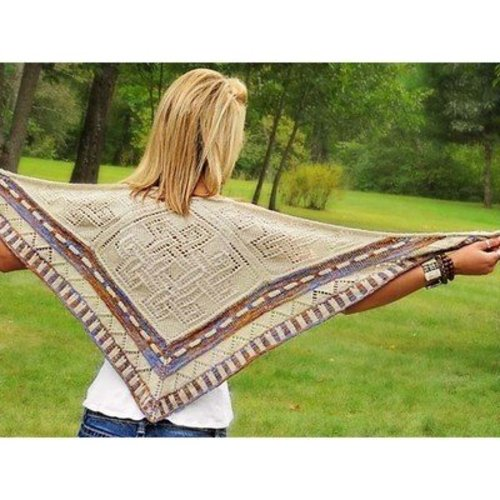 Knit One Crochet Too 2308 High Chaparral Shawl -  ()