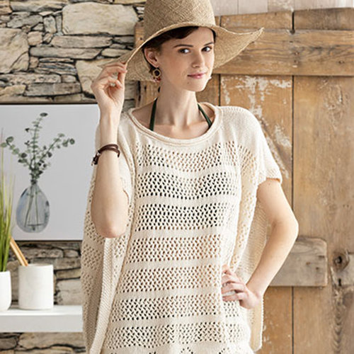 Knit Simple Lacy Poncho Kit - S/M/L (01)