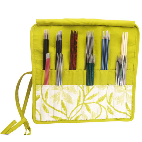 "Knitter's Pride Fabric Double Pointed Needle Case (6""/8"") - Greenery (GREE)"