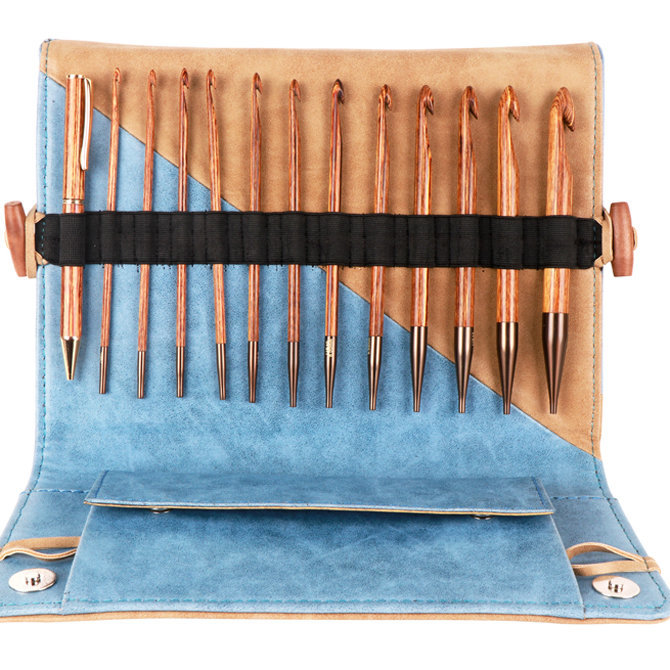 Knitters Pride Ginger Interchangeable Tunisian Crochet Hook Set At