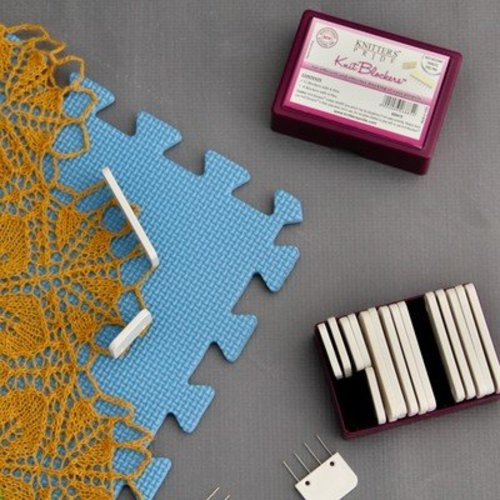 Knitter's Pride Lace Blocking Mats and Knit Blockers Combo - Original (COMBO)