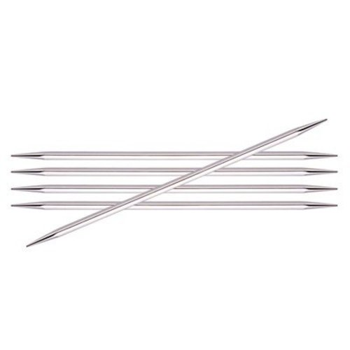 """Knitter's Pride Nova Cubics Platina Double Pointed Needles 5"""" - US 6, 4.00mm (6)"""