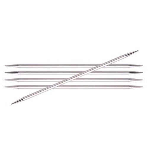 """Knitter's Pride Nova Cubics Platina Double Pointed Needles 6"""" - US 5, 3.75mm (5)"""