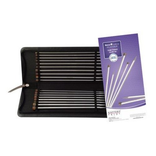 "Knitter's Pride Nova Cubics Platina Single Pointed Needle Set 10"" -  ()"