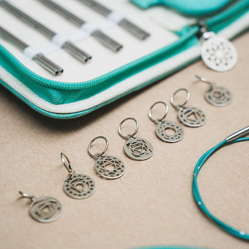 Knitter's Pride Sterling Silver Plated Chakra Stitch Markers -  ()