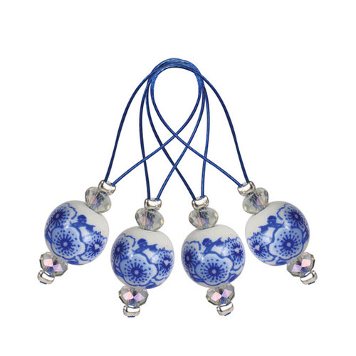 Knitter's Pride Zooni Stitch Markers - Blooming Blue (BLOOM)