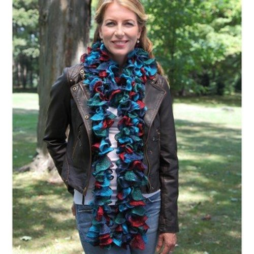 Knitting Fever Flounce Scarf (Free) -  ()