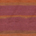 Knitting Fever Luxury Indulgence Cashmere - Bengala Print - Brick, Orange (1502)