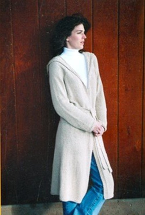 Knitting Pure & Simple 225 Neckdown Long Hooded Cardigan -  ()